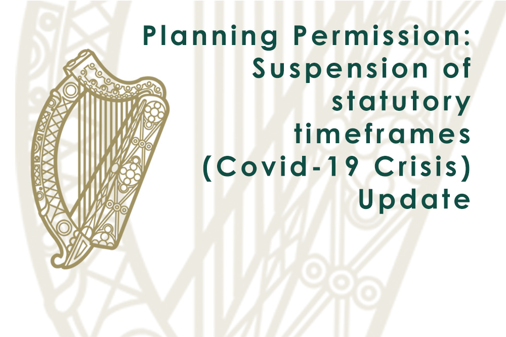 Planning Permission: Suspension of statutory timeframes - UPDATE