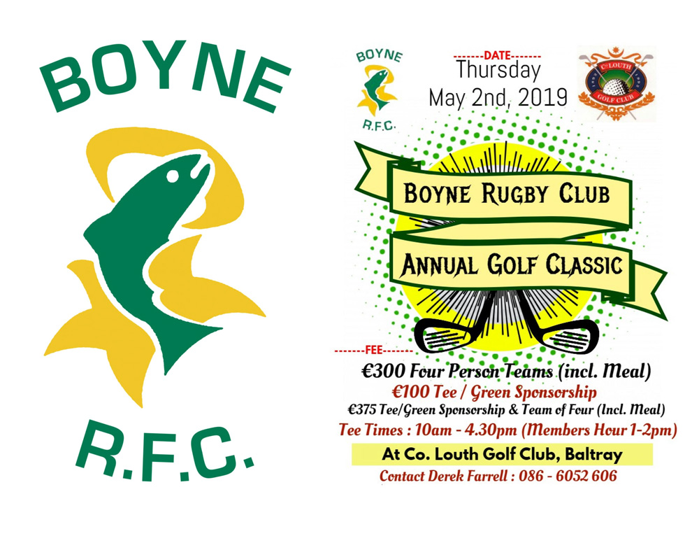 Boyne Rugby Club - Annual Golf Classic